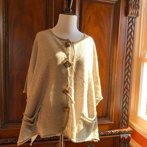 Barbara Speer designer Linen blouse w/ buttons